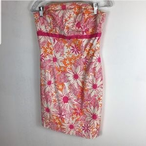 Lily Pulitzer dress tropical orange pink white